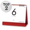 6Weeks Calendar(レッド)[SG930]@355円~(税込)